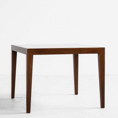 Midcentury Danish square side table in rosewood by Severin Hansen for Haslev