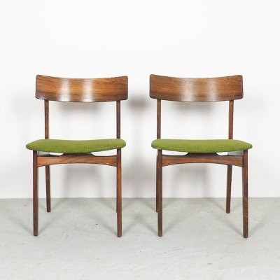 Set of 2 Danish design rosewood dining chairs