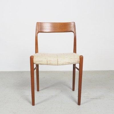 Danish design organic shaped teak dining chair, 1960's