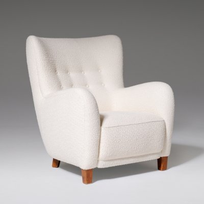 Cabinetmakers High-back Lounge Chair, 1940's
