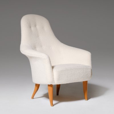 Kerstin Horlin-Holmquist 'Adam' Chair in Rich Bouclé