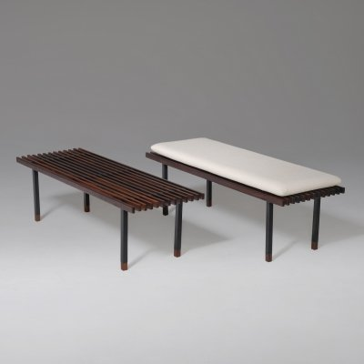 Pair of Rosewood Benches by Campo & Graffi, Italy 1950s