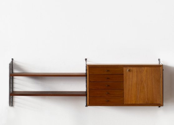 Wall unit by Nisse Strinning for String, Sweden 1960