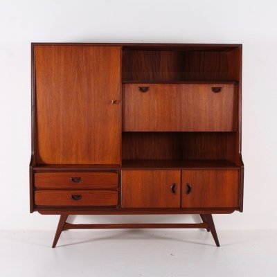 Teak cabinet/bar by Louis van Teeffelen for Wébé, 1960