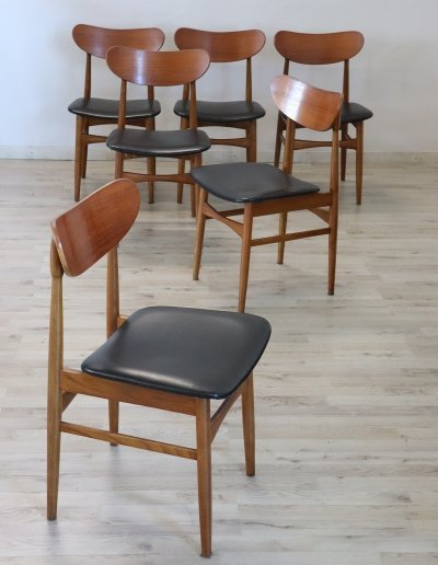 Set of 6 Danish Vintage Design Chairs, 1970s