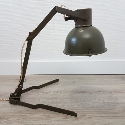 Industrial military adjustable folding desk lamp, 1950s
