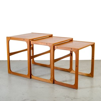 Scandinavian wooden nesting tables