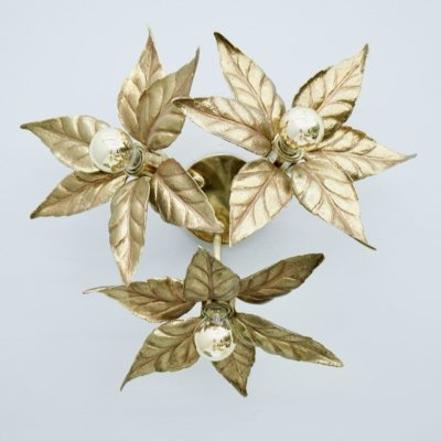 Willy Daro Brass Ceiling Or Wall Light, 1970s