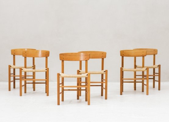 Set of 6 dining chairs 'model J39' by Borge Møgensen for Fredericia