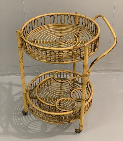Rattan Cart Trolley