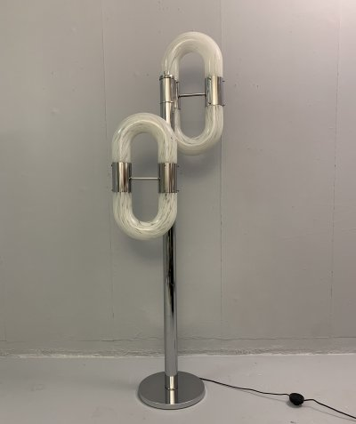 Murano Glass Floor Lamp by Aldo Nason, 1970s