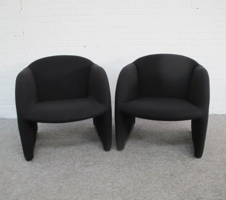 Pair of Ben lounge chairs by Pierre Paulin for Artifort, 1980s
