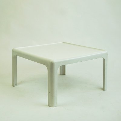 White 70s Coffee Table by Horn Collection