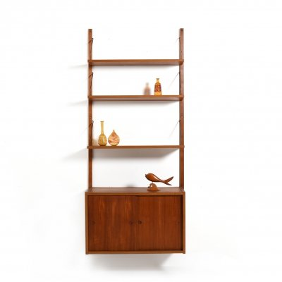 Mid Century Danish Teak Wall Unit by Preben Sørensen