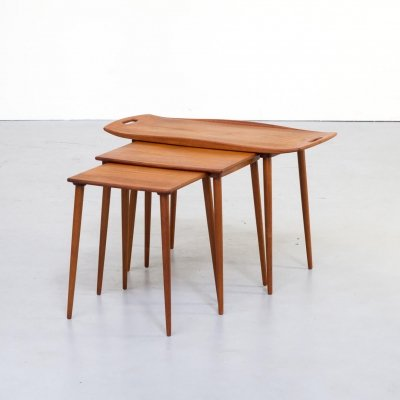 60s Jens Quistgaard Teak Nesting Tables for Richard Nissen