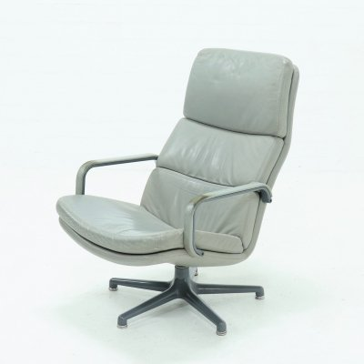 Leather Artifort Swivel Chair by Geoffrey Harcourt, 1970s