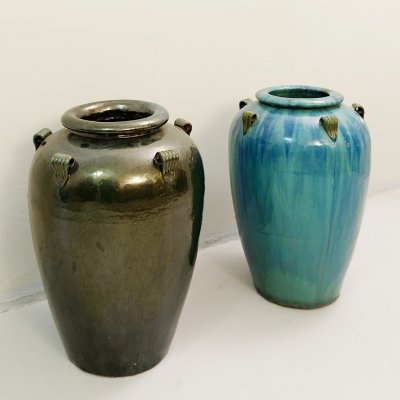 Glazed Terracotta Jars, 1970s