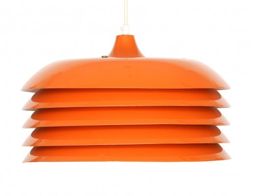 Orange pendant light T 742 by Hans-Agne Jakobsson for Hans Agne Jakobsson Jakobsson AB, Markaryd