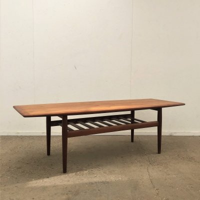 Teak coffee table by Grete Jalk for Glostrup, Denmark 1960s