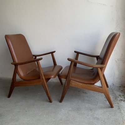 Pair of arm chairs by Louis van Teeffelen for Wébé, 1960s