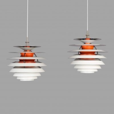Pair of PH Kontrast lamps by Poul Henningsen for Louis Poulsen, 1960s