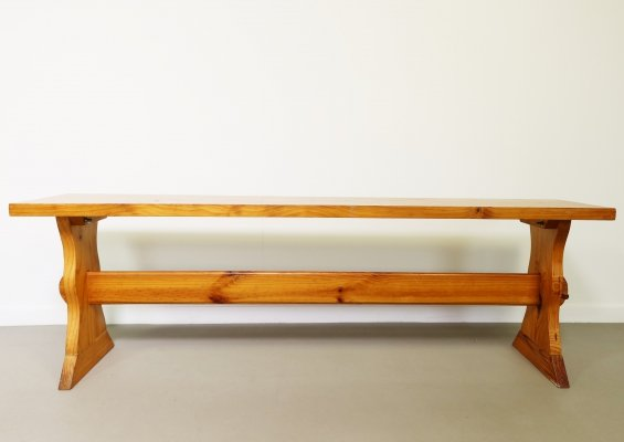 Pinewood bench, 1970's
