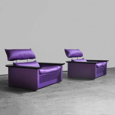 2 easy chairs by Franco Perrotti for Tecno, Italy 1970s