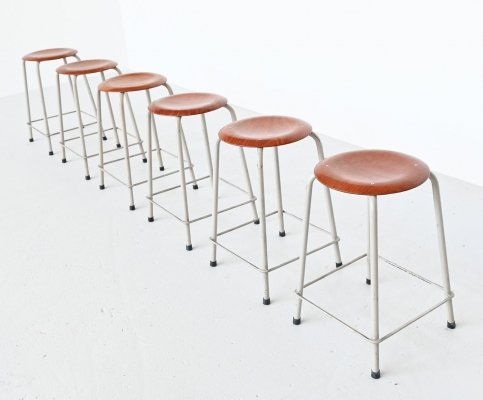 Ahrend de Cirkel industrial stools, The Netherlands 1970
