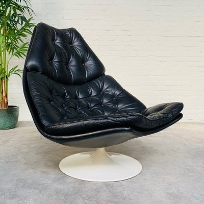 Artifort F588 swivel lounge chair by Geoffrey Harcourt, 1967