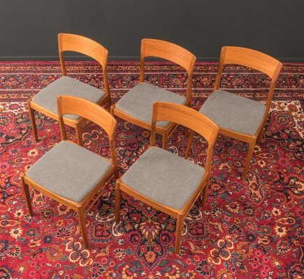 Set of 5 K. S. Møbler dining chairs, 1960s