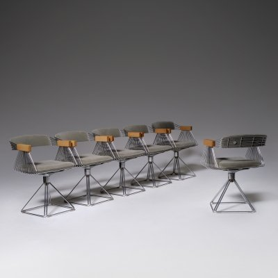 Set of six 'Delta' Chairs by Rudi Verelst, 1971
