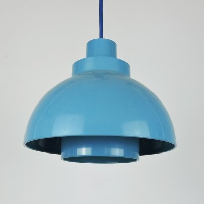 Blue Minisol Pendant Lamp by K. Kewo for Nordisk Solar, 1960s