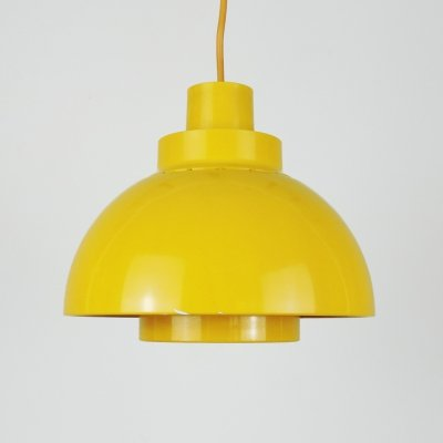 Yellow Minisol Pendant Lamp by K. Kewo for Nordisk Solar, 1960s