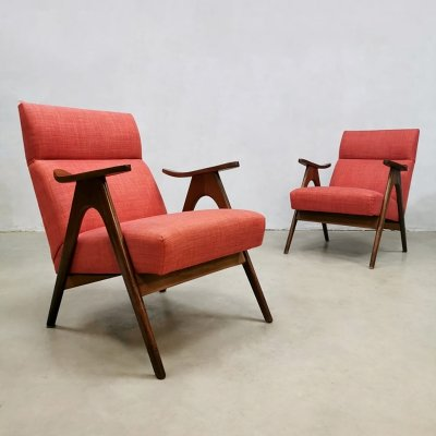 Set of 2 Vintage easy chairs by Louis van Teeffelen for Webe