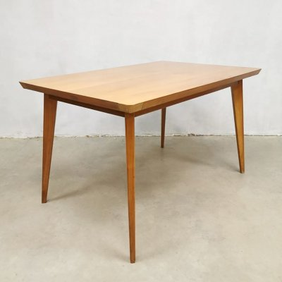 Vintage Dutch design dining table by G. van Os Culemborg