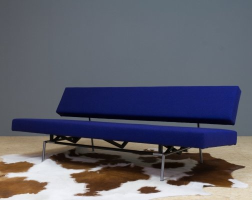 Blue wool BR02 sofa or daybed by Martin Visser for Spectrum, 1960s