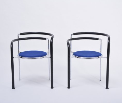 Pair of Post-Modern 'Dark Horse' chairs by Rud Thygesen & Johnny Sorensen