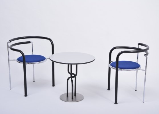 Post-Modern seating group 'Dark Horse' by Rud Thygesen & Johnny Sorensen, 1989