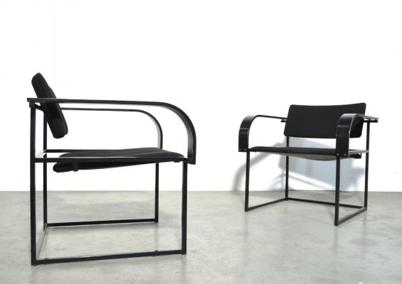 Post modern vintage easy armchairs by Pierre Mazairac & Karel Boonzaaijer for Pastoe
