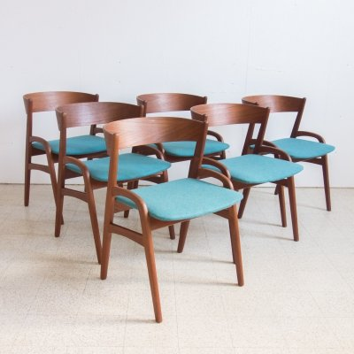 Set of 6 Danish chairs, 1960s