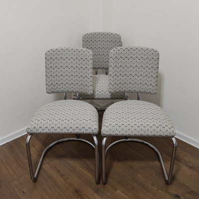 Set of 3 Bauhaus Chairs by Prof. F. A. Breuhaus, 1930's