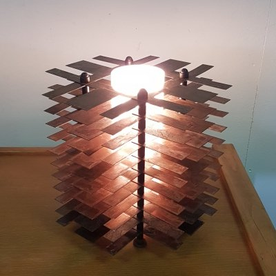 Architectual steel table lamps, France 1980s