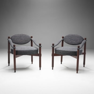 Pair of Mid-Century Armchairs by Raffaella Crespi for Mobilia, Italy 1960s