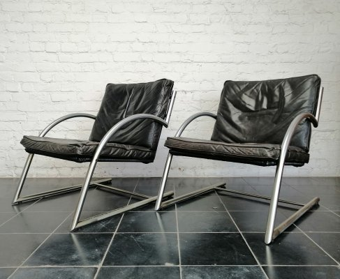Set of 2 'Des' chairs by Gerard vd Berg for Rohé, 1980s