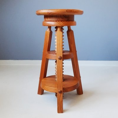 Pine Corkscrew Stool, 1970s