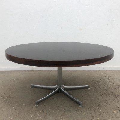 Vintage mosaic & rosewood coffee table by Walter Knoll, 1970s