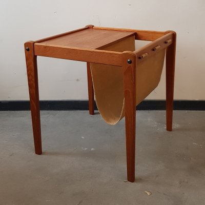 Danish side table & magazine holder by Furbo, 1960s