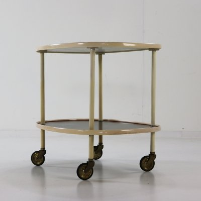 German design serving trolley with grey & black formica