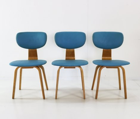 Set of 3 SB03 dining chairs by Cees Braakman for Pastoe, 1960s