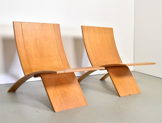 Pair of Laminex mod. 270 lounge chairs by Jens Nielsen, 1960s